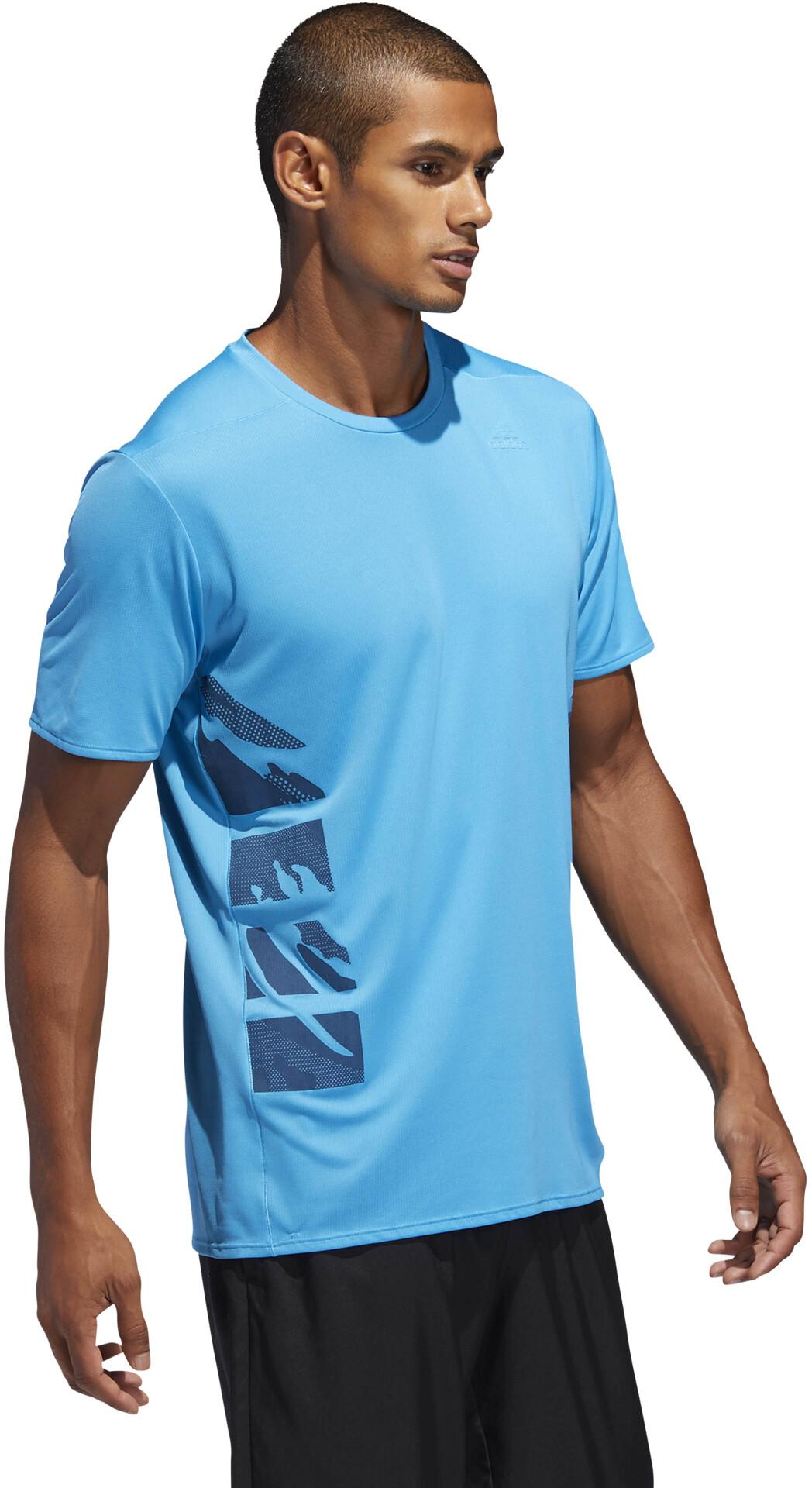 61e9714eb adidas Supernova Running T-shirt Men blue at Addnature.co.uk